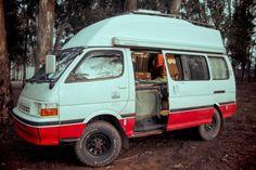 Hiace Hobo - Living in a Toyota Camper Van: The Hiace solar panels on top van conversion camper