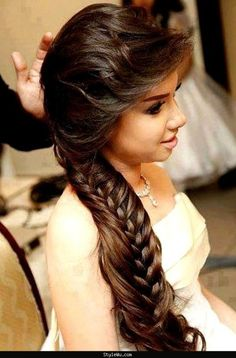 Wedding-Bridal Hair Styles-Perfect Hair Styles For Party Occasions-Indian-Pakistani Gorgeous Hair Style 2014 - Fashion & Style 2014 Latest Hairstyles, Messy Hairstyles, Pretty Hairstyles, Hairstyle Ideas, Hair Ideas, Indian Hairstyles, Perfect Hairstyle, Style Hairstyle, Casual Hairstyles