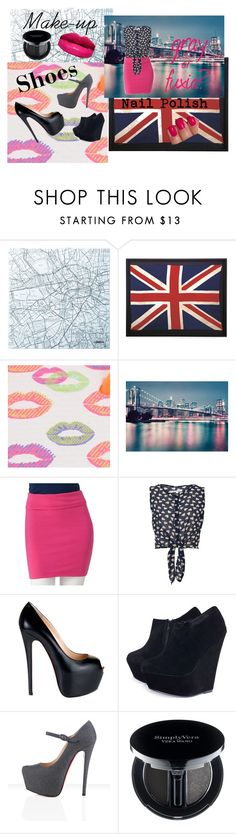 """""""gray and fuxia"""" by la-mode-est-art ❤ liked on Polyvore featuring Muji, Havaianas, Glamorous, Christian Louboutin, AX Paris and Simply Vera"""