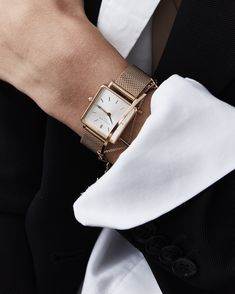 The Boxy White Rose gold Rose Gold women's watch - Rose Gold mesh strap Elegant Watches, Beautiful Watches, Stylish Watches, Casual Watches, Cool Watches, Watches For Men, Cheap Watches, Popular Watches, Rose Gold