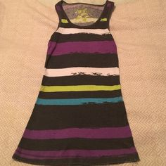 Nollie racer back small tank top This Nollie tank top is a small with vibrant colors. Very soft comfortable and stripes are flattering! Nollie Tops Tank Tops