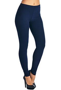 4c0d26bbcd Leggings Mania Women s Solid Full Length High Waist Leggings - Regular or  Plus at Amazon Women s Clothing store