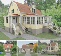 tillbyggnad 20 tals hus - Google Search Timber Ceiling, Timber Roof, Dream House Plans, My Dream Home, Getaway Cabins, Beautiful Buildings, Pergola, Villa, Backyard