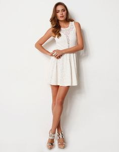 This Eve Lace Skater Dress from Supre is a steal at only $45!