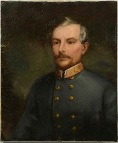 "Oil on canvas of the Confederate General P. G. T. Beauregard (Pierre Gustave Toutant, 1818-1893, ). A note with the painting states the portrait was painted in Paris and presented to Mrs. J. E. Lutz (Adelia (Armstrong) Lutz) by Mrs. Horace Maynard (Laura Ann Washburn). Unframed. 21"" W x 25 1/2"" H. Provenance and History: Private collection of an Armstrong descendant."
