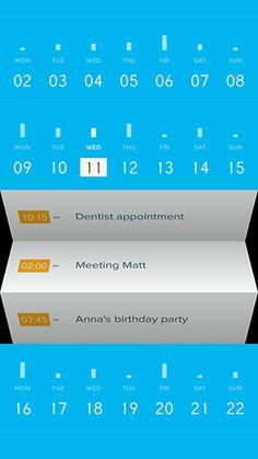 Peek app - lots of depth via the ui