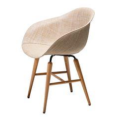Armlehnenstuhl Forum Wood (4er-Set) - Kunststoff/Buche massiv - Beige