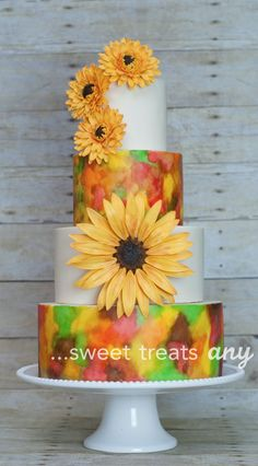 New Cake Desing Unique For Women Ideas Elegant Wedding Cakes, Cool Wedding Cakes, Wedding Cake Designs, Wedding Ideas, Satin Ice Fondant, Sugar Flowers, Cake Flowers, New Cake, Painted Cakes