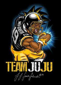 9b9836bc0 PITTSBURGH STEELERS~#19 JUJU SMITH-SCHUSTER Here We Go Steelers, Steelers  Stuff