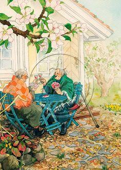 Inge Löök Aunties playing cards.  #4