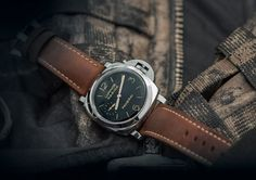 The @paneraiofficial Luminor Marina 1950 3 Days Acciaio watch has a 47-mm case and a crown protection bridge. It is powered by the hand-wound, Caliber P.3001. More @ http://www.watchtime.com/reviews/splash-from-the-past-diving-with-the-panerai-luminor-marina-1950-3-days-acciaio/ panerai #watchtime #menswatches #divewatch
