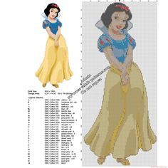 Disney Snow White free cross stitch pattern 88 x 196 29 DMC threads