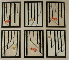 Varjoja ja kettu Christmas Art Projects, Holiday Crafts For Kids, Winter Painting, Winter Art, 3rd Grade Art Lesson, Art Lessons Elementary, Art Activities, Book Illustration, Pottery Art