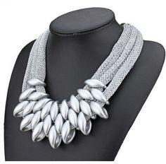 Marca de Lujo Del Encanto Del Collar de Cuerda Gruesa Placa de Plata Cadena de Oro de La Vendimia Declaración Gargantilla Maxi Collares Joyas Joyería Para Las Mujeres