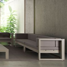 Gandia Blasco Na Xemena Sofa Modern Outdoor 2-Seater Lounge