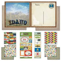Scrapbook Customs Themed Paper and Stickers Scrapbook Kit, Idaho Vintage by Scrapbook Customs, Inc.. $9.67. Vibrant color scheme. Contains 7 sheets of 12-inch by 12-inch scrapbook paper, 135 alphabet character paper cut outs. Acid free and Lignin Free. Contains 15 fun fact paper cut outs and state vintage stickers. Made in the usa. Proudly made in the USA, Scrapbook Customs Vintage State Scrapbook Kits are perfect for Scrapbooking your favorite vacation photos. The items includ...