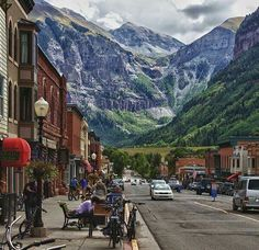 Telluride, CO.  Everyone should visit this place at least once in their life.