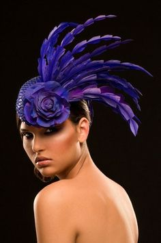 feather hat #millinery #judithm #hats #feathers