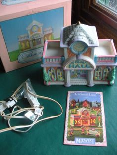 """""""Cottontail Lane"""" Porcelain Lighted """"COTTONTAIL INN""""- Midwest of Cannon Falls"""