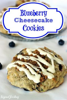 Blueberry Cheesecake Cookies from Beyond Frosting