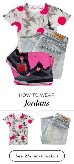 """""""Pink today"""" by lovejaycii on Polyvore featuring Denham, MICHAEL Michael Kors and NIKE"""