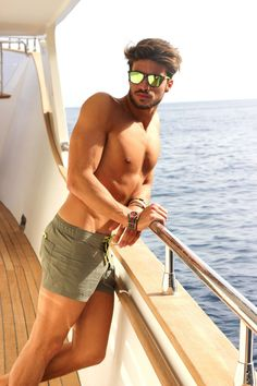 Mariano Di Vaio Love the new shorter style swimsuits for men! Throw out the knee length baggies, guys - Us girls want to see (and feel) sexy legs too! Look Man, Swim Shorts, Guys Shorts, Summer Shorts, Swim Trunks, Male Models, Sexy Men, Hot Men, Hot Guys