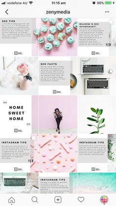 Feeds That Split Instagram Photos into Grids (How to + inspiration) Instagram Design, Muro Instagram, Instagram Feed Layout, Interior Design Instagram, Instagram Grid, Instagram Blog, Instagram Posts, Web Design, Layout Design