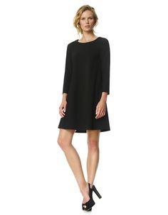 Aymeline - zwart - Heavy jersey jurk | LaDress