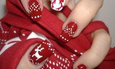 50+ Christmas Nail Art Designs and Ideas You Will Love
