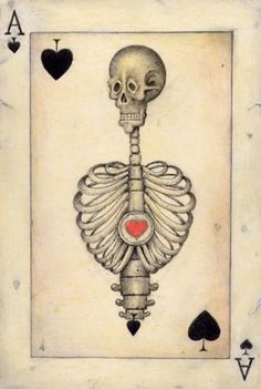 La Danse Macabre, Ace Of Spades, Vintage Playing Cards, Cartomancy, Joker, Skull And Bones, Skull Art, Deck Of Cards, Tarot Cards