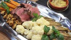 Chateaubriand met aardappeltaartjes en groentenkrans