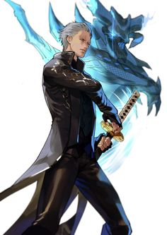 Yellow Eyes, Blue Eyes, Arata Tokyo Ghoul, Game Character, Character Design, Konosuba Wallpaper, Vergil Dmc, Dante Devil May Cry, Epic Characters