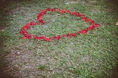 Flower petal heart surprise!