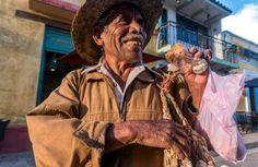Selling garlic on the streets of San Cristobal, Chiapas, Mexico.