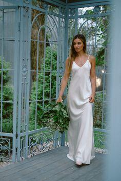 Black Slip Dress, White Dress, Bridal Gowns, Wedding Dresses, Silk Slip, Silk Charmeuse, Queen, Ivory Dresses, White Silk