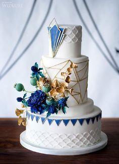 Modern Geometric Wedding Cake | Wedluxe