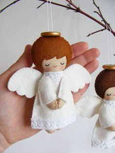 Felt christmas ornaments - Felt PDF sewing pattern Felt angels Christmas tree ornaments, boy and girl angels, easy sewing pattern, angel softies, digital item – Felt christmas ornaments Felt Christmas Decorations, Felt Christmas Ornaments, Christmas Angels, Christmas Fun, Tree Decorations, Etsy Christmas, Christmas Pictures, Angel Crafts, Christmas Projects