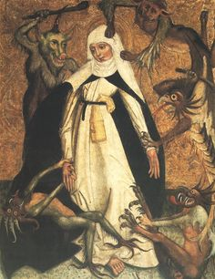 St. Catherine of Siena Besieged by Demons, Anonymous