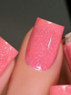 Square Acrylic Nails, Pink Acrylic Nails, Pink Nails, Matte Pink, Pink Sparkle Nails, Blush Pink, Fancy Nails, Pretty Nails, Pink Holographic Nails