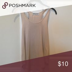 Urban Outfitters tan tank Urban Outfitters tan tank top, cozy, mesh material Urban Outfitters Tops Tank Tops