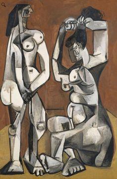 """Women at their Toilette""  Pablo Picasso, 1956"