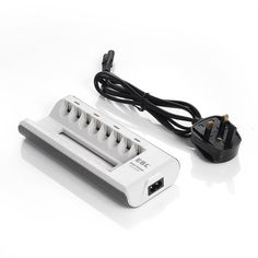 EBL? 808A 8 Bay AA AAA Battery Charger UK for Ni-MH Ni-Cd Pre-charged Rechargeable Battery