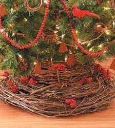 grapevine tree skirt  rusticcrafts.com