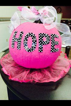 breast cancer awareness pumpkin