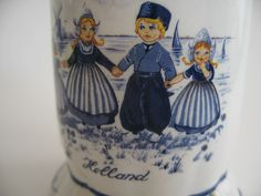 Delfts Blauw Blue Ceramic Hand Painted footed cup with by Klassic, $8.00