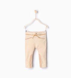 Pantalon cavalier en velours côtelé