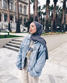 Modern Hijab Fashion, Street Hijab Fashion, Hijab Fashion Inspiration, Muslim Fashion, Mode Outfits, Fashion Outfits, Modele Hijab, Hijab Fashionista, Outfit Look