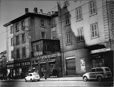 Milano anni 50, corso Cristoforo Colombo angolo Coni Zugna