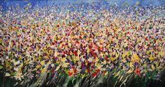 Mario Zampedroni, Campo de flores. http://fineartamerica.com/featured/1-flower-field-mario-zampedroni.html# flower fields