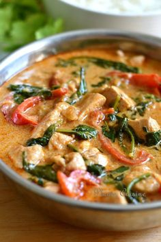 Chicken-curry-Thai – Cuisine – – Top Of The World Healthy Dinner Recipes, Soup Recipes, Cooking Recipes, Indian Food Recipes, Asian Recipes, Ethnic Recipes, Baked Chicken Recipes, Shrimp Recipes, Food Inspiration
